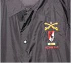 43 - Windbreaker, Black, Snap front, BH Insignia & VN Ribbon